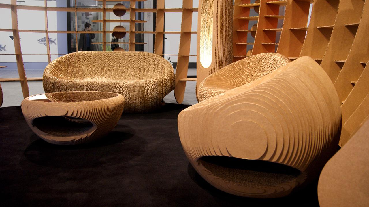 Geometric Origami Furniture : Bloom Series   720x1280
