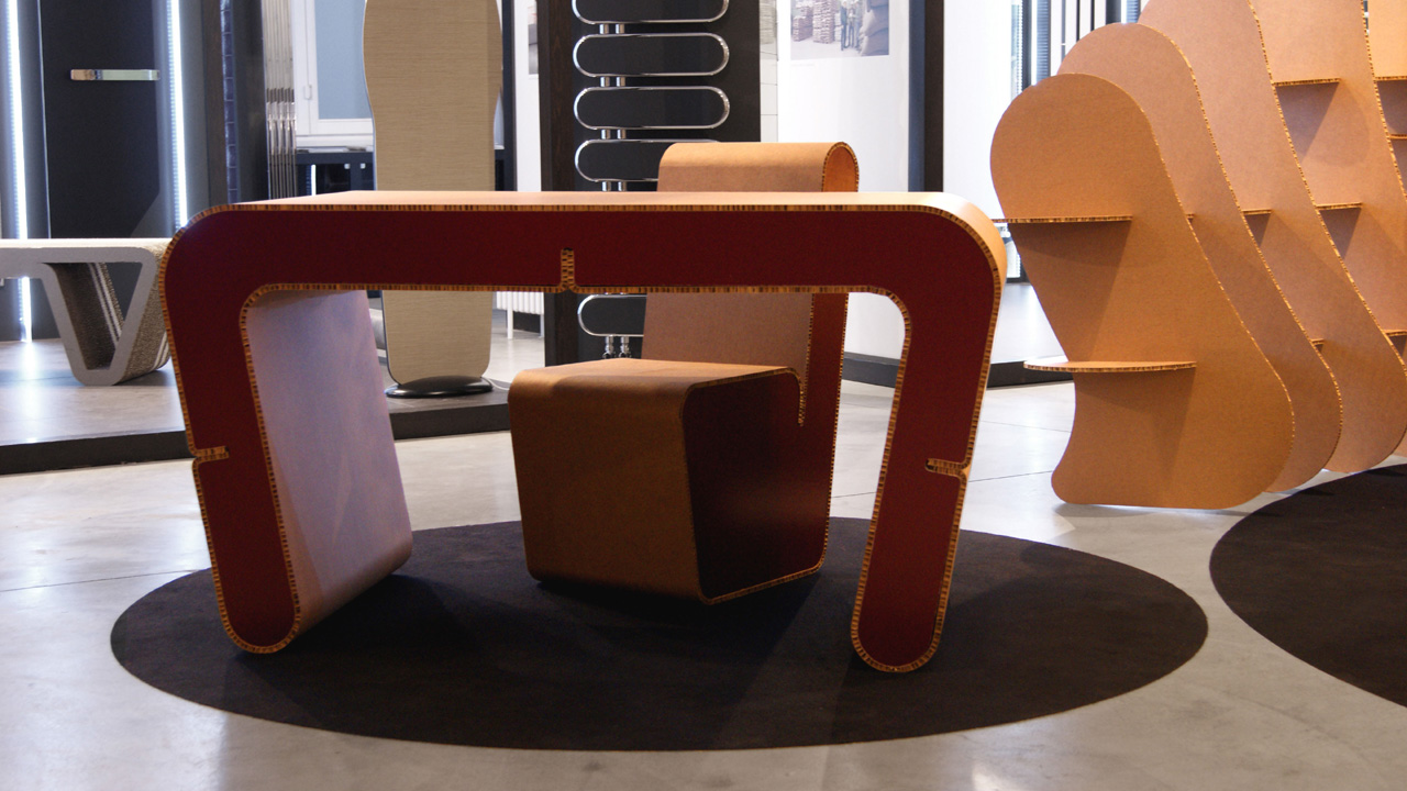 cardboard office furniture. Snake Collection. Cardboard Office Furniture N